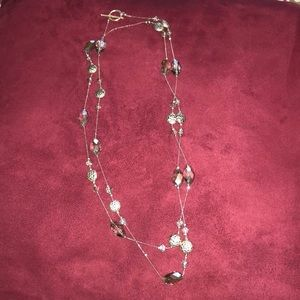 Jewelry - Women's silver beaded necklace